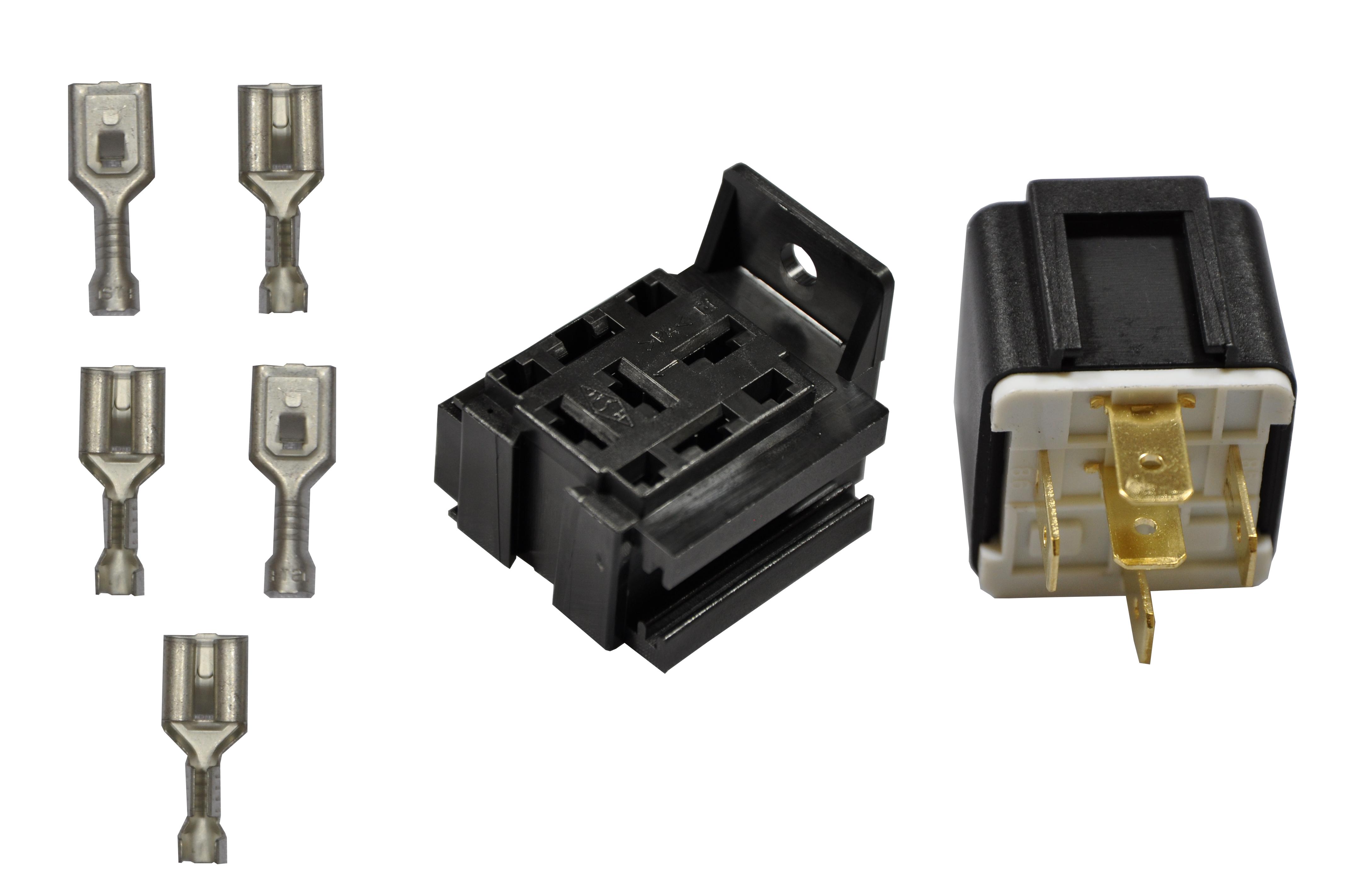 Relais 12v 40a Mit Sockel Amp Stecker Cum Cartec Shop De